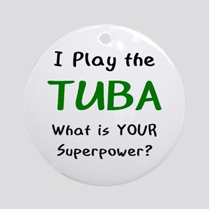 play tuba Round Ornament
