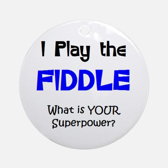 play fiddle Ornament (Round)