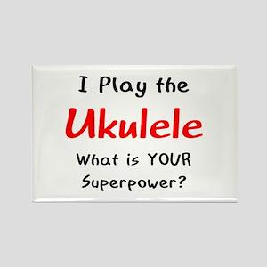 play ukulele Rectangle Magnet