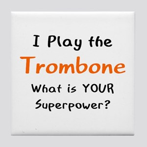 play trombone Tile Coaster