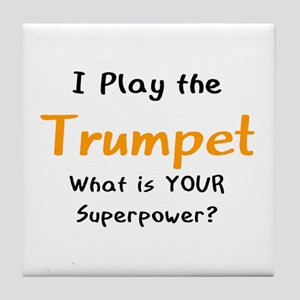 play trumpet Tile Coaster