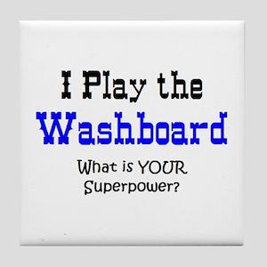 play washboard Tile Coaster