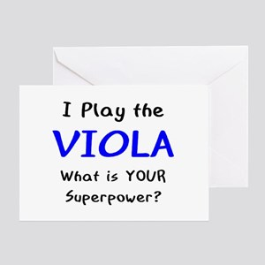 play viola Greeting Card