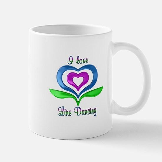 I Love Line Dancing Hearts Mug