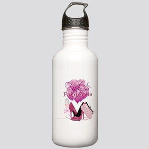 Fifty & Fabulous Pink Glitter Water Bottle