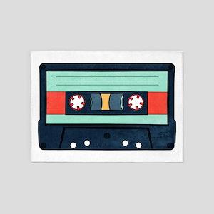 Indigo Cassette 5'x7'Area Rug