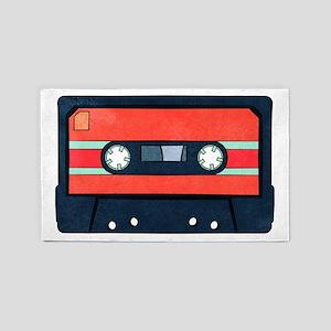 Red Cassette Area Rug