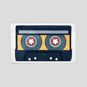 Orange Cassette Area Rug