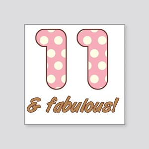 "11th Birthday Dots Square Sticker 3"" x 3"""