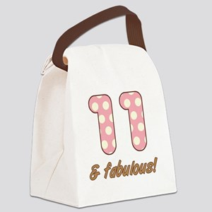 11th Birthday Dots Canvas Lunch Bag