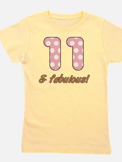 11th Birthday Dots Girl's Tee