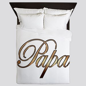 Gold Papa Queen Duvet