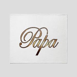 Gold Papa Throw Blanket