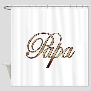 Gold Papa Shower Curtain