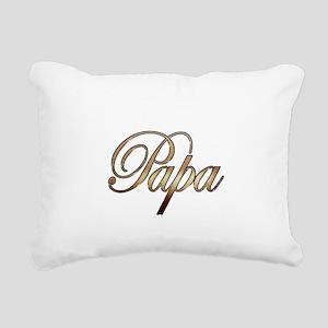 Gold Papa Rectangular Canvas Pillow