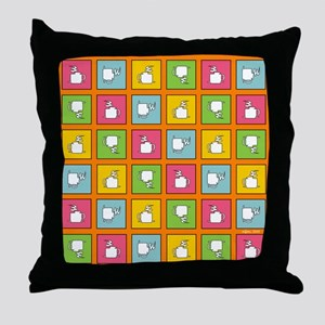 COFFEE CHECKERBOARD Throw Pillow