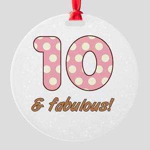 10th Birthday Dots Round Ornament