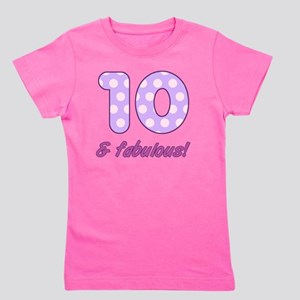 10th Birthday Dots Girl's Tee