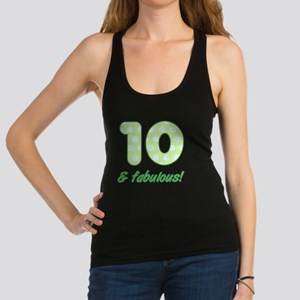 10th Birthday Dots Racerback Tank Top