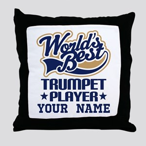 Trumpet Player Gift Throw Pillow