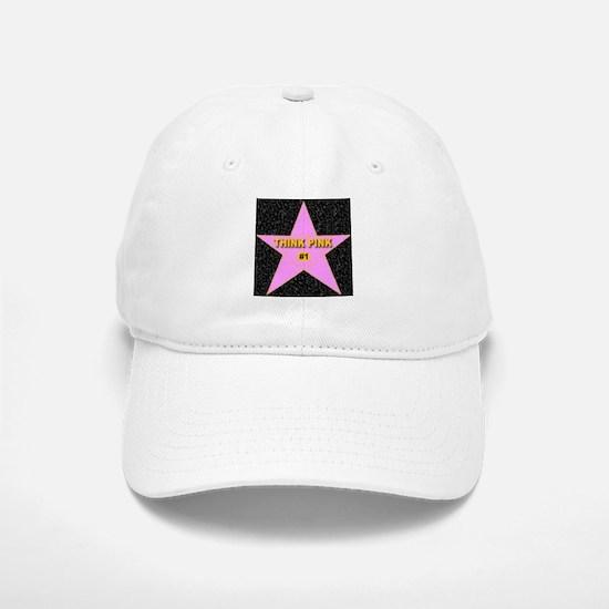 Think Pink Baseball Baseball Cap