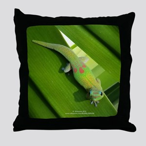 Rainbow Geckoe Throw Pillow