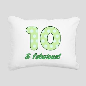 10th Birthday Dots Rectangular Canvas Pillow