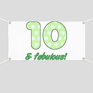 10th Birthday Dots Banner