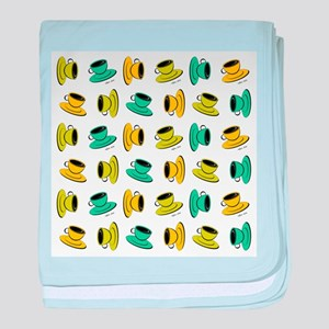 SCATTERED COFFEE MUGS baby blanket