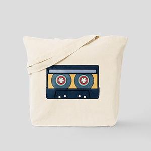 Orange Cassette Tote Bag