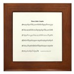 Melody Crumbs Framed Tile