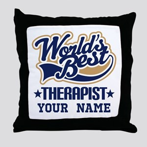 Worlds Best Therapist custom Throw Pillow