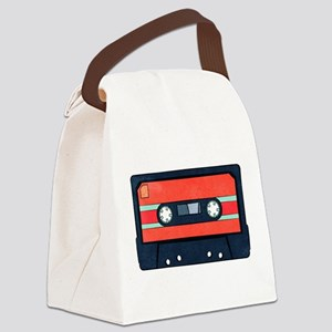 Red Cassette Canvas Lunch Bag