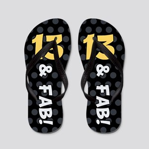 13th Birthday Dots Flip Flops