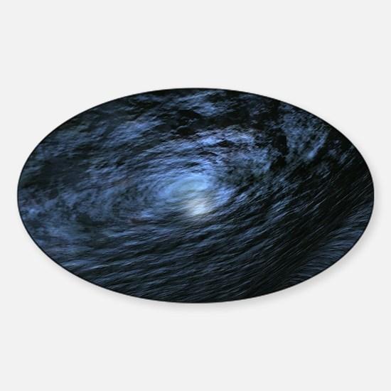 Cute Blue hole Sticker (Oval)