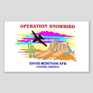 SNOWBIRD A-10 Rectangle Sticker