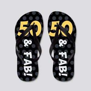 50th Birthday Dots Flip Flops
