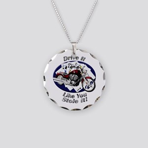 Victory Vegas Necklace Circle Charm