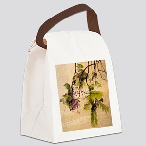 Gentle Jacaranda Canvas Lunch Bag