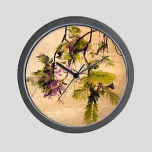 Gentle Jacaranda Wall Clock
