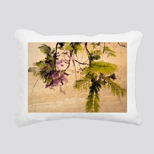Gentle Jacaranda Rectangular Canvas Pillow