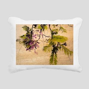 Gentle Jacaranda Rectangular Canvas Pillow