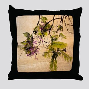 Gentle Jacaranda Throw Pillow