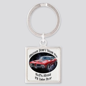 Olds 4-4-2 Square Keychain