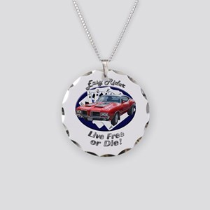 Olds 4-4-2 Necklace Circle Charm