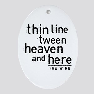 The Wire Oval Ornament