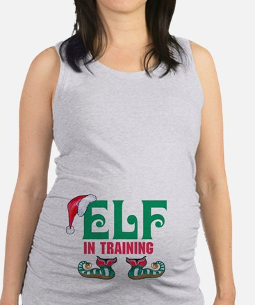 Elf In Training Maternity Tank Top