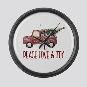 Vintage Toy Truck Peace Love & Jo Large Wall Clock