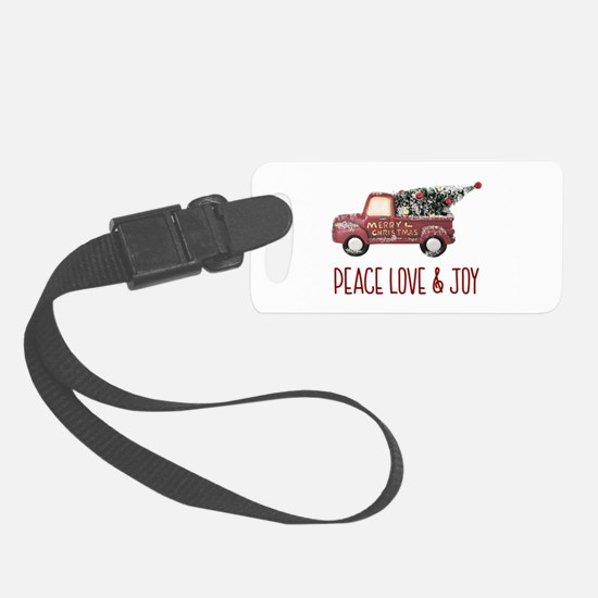 Vintage Toy Truck Peace Love & J Luggage Tag