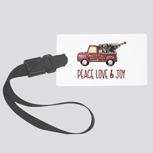 Vintage Toy Truck Peace Love & J Large Luggage Tag